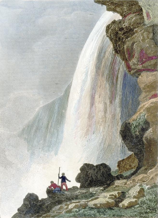 """Voute_sous_la_Chute_du_Niagara_-_Niagara_Falls""_by_Jacques-Hippolyte_van_der_Burch"